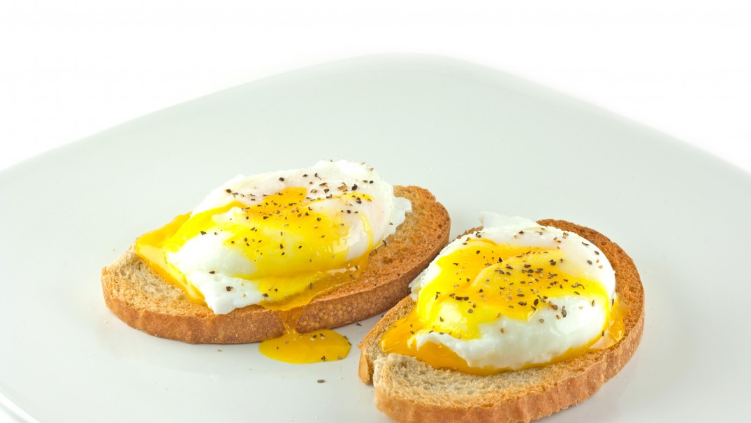 Poached Eggs On Ezekiel Bread