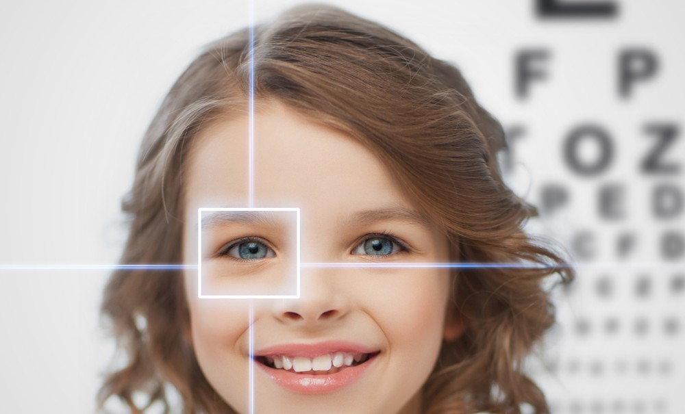 Children have naturally larger eyes