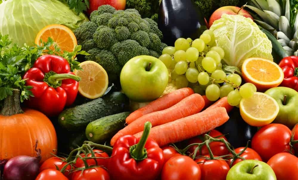 fruits and vegetables are loaded with dietary fiber