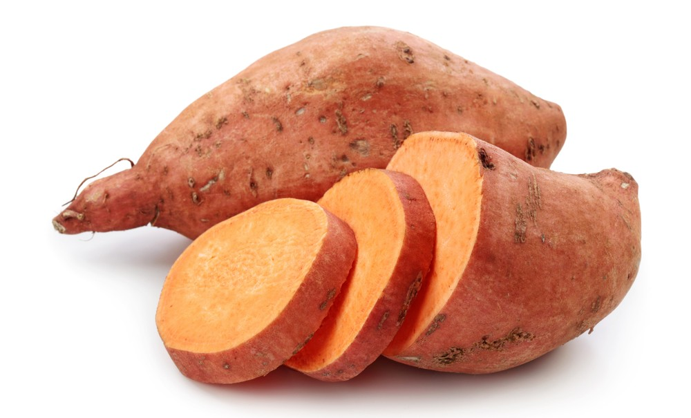 Cooked Sweet Potato Slices
