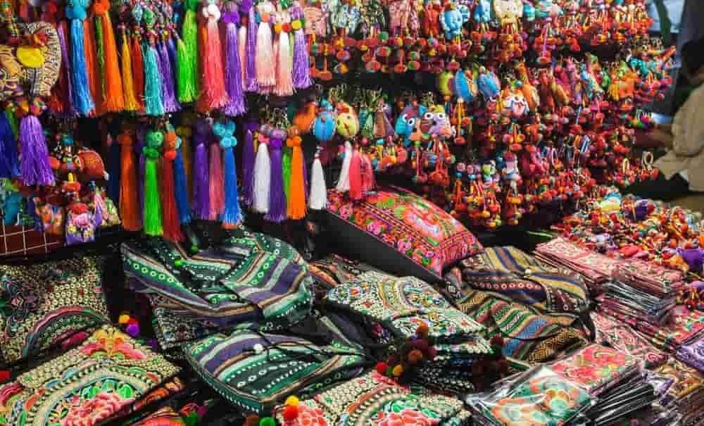 Fabrics in a craft store