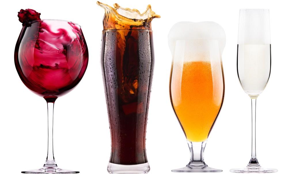 Wine, coke, beer