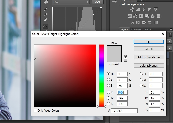 white balance tutorial white colour picker window