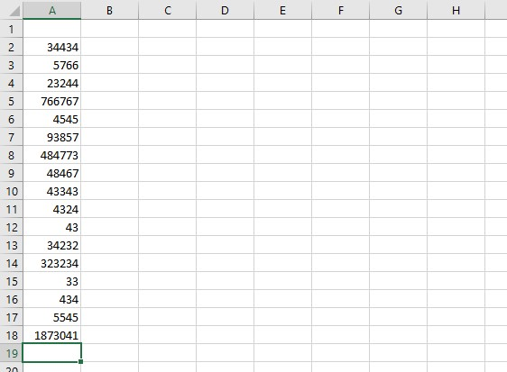 sample sum of data