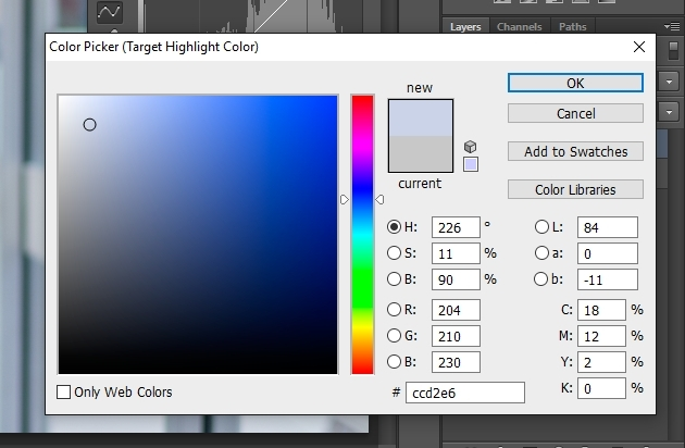 white balance tutorial RGB value
