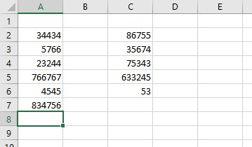 sample excel data